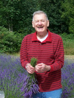 Dick grows lavender in his front yard